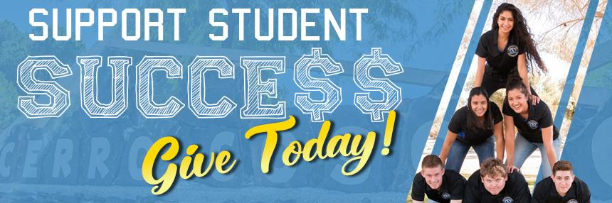 Support Student Success Give Today!