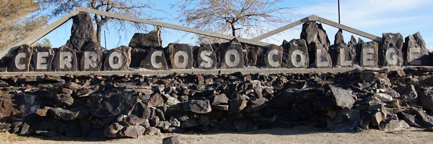 Cerro Coso College Sign