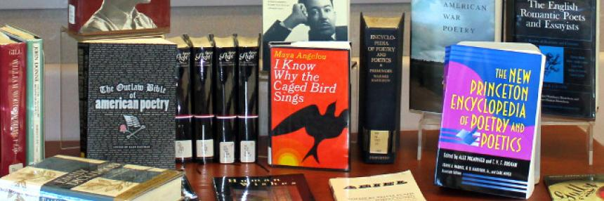 Library Poetry Month Display