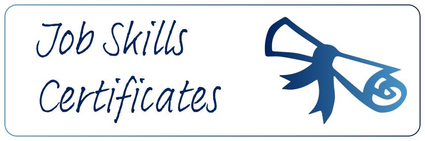 Job Skills Certificates
