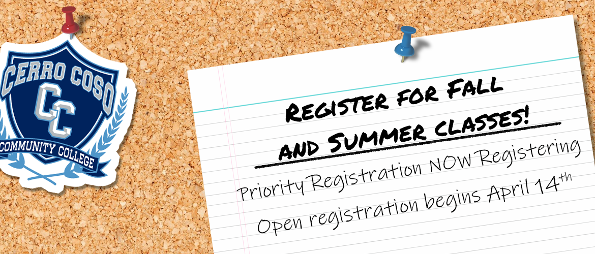 Register for Fall and Summer Classes