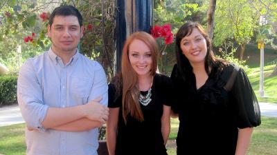 Cerro Coso students (l to r):  Nicolas Elder, Beverlee Wood, and Hannah Small.