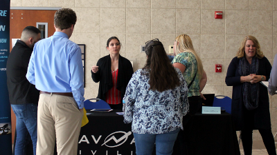 NavAir Representatives share the many employment and internship opportunities available to CCCC students.