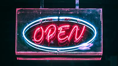 Open Sign - New Program in Entrepreneurship