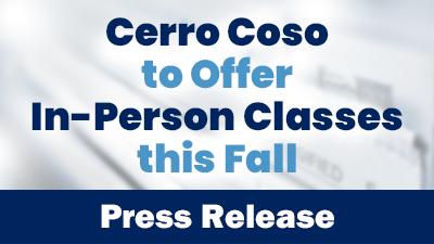 Press Release In Person Classes Fall 2021 button image