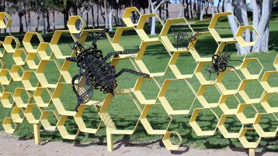 Bees New Addition to College Sculpture Garden