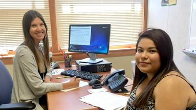 Courtney Diffner and student Daniela Alvarado Hernandez.