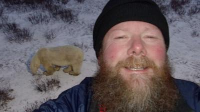 New CTE Dean - Minister of Happiness - Michael Kane with polar bear