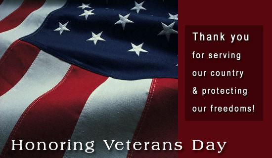 College Closed for Veterans Day