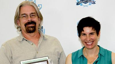 Jeff Welsh and Jennifer Flenner were named Adjunct Faculty of the Year by CCCC students at the KRV Campus.