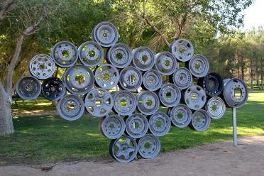 """""""X"""" New Addition to Sculpture Garden"""
