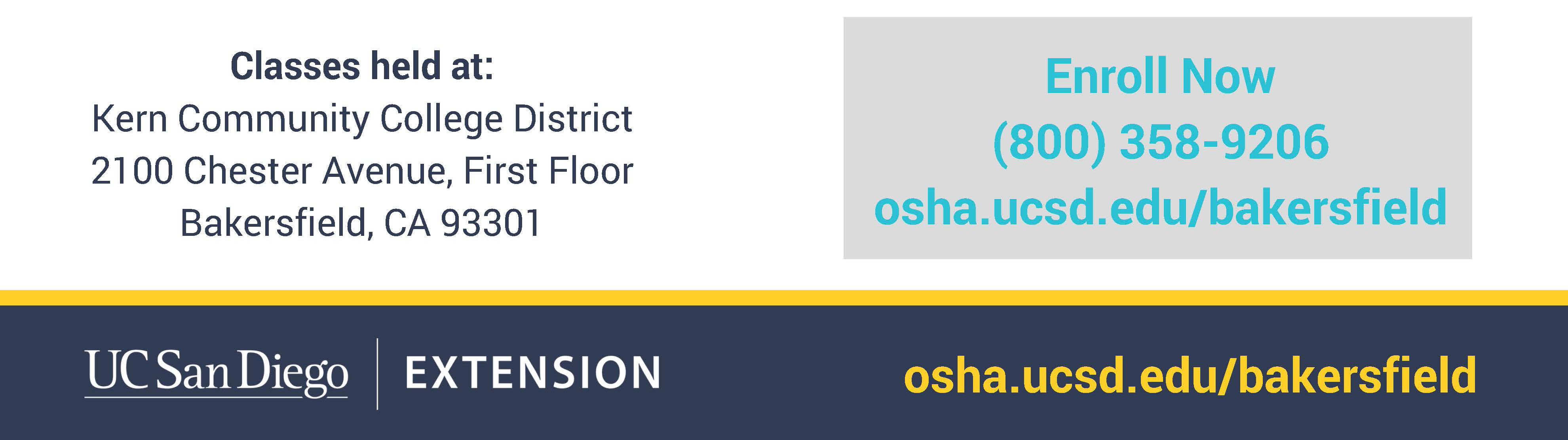 UCSD / Bakersfield OSHA training