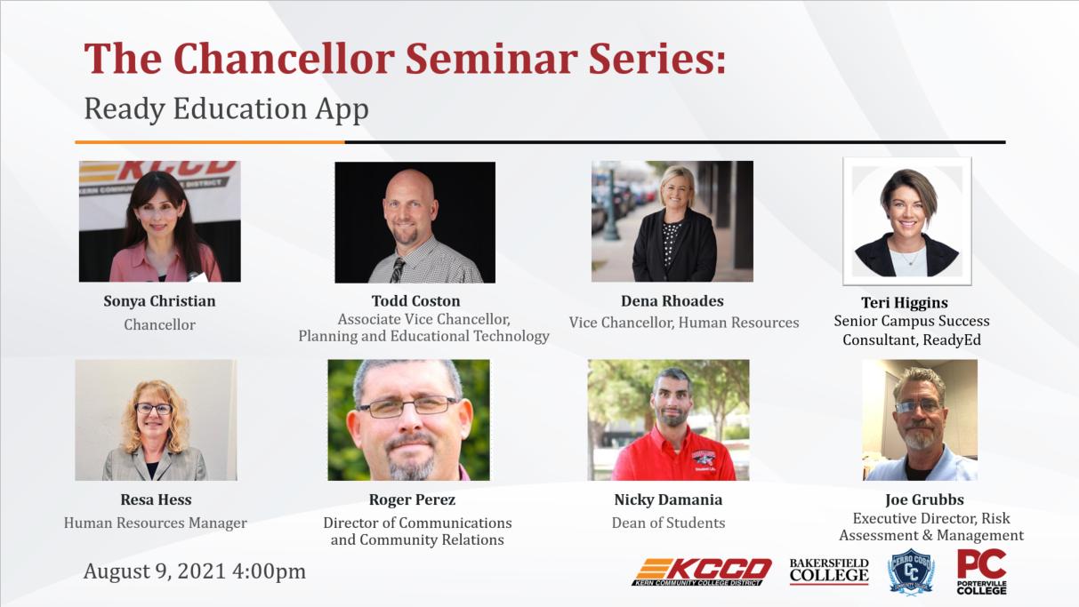 Speakers from August 9 seminar