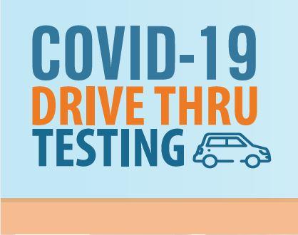 COVID Drive Thru Testing Flyer in English