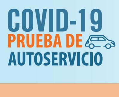 COVID Drive Thru Testing Flyer in Spanish