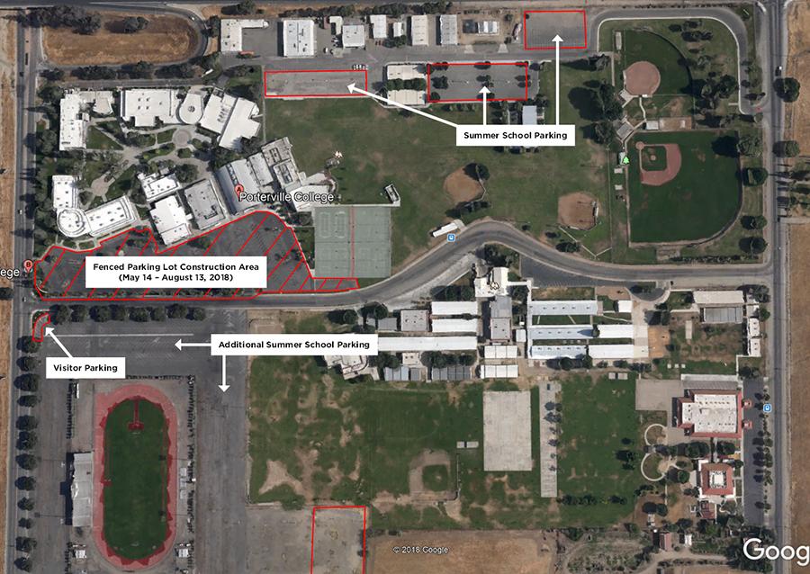 Summer School Parking Map 2018
