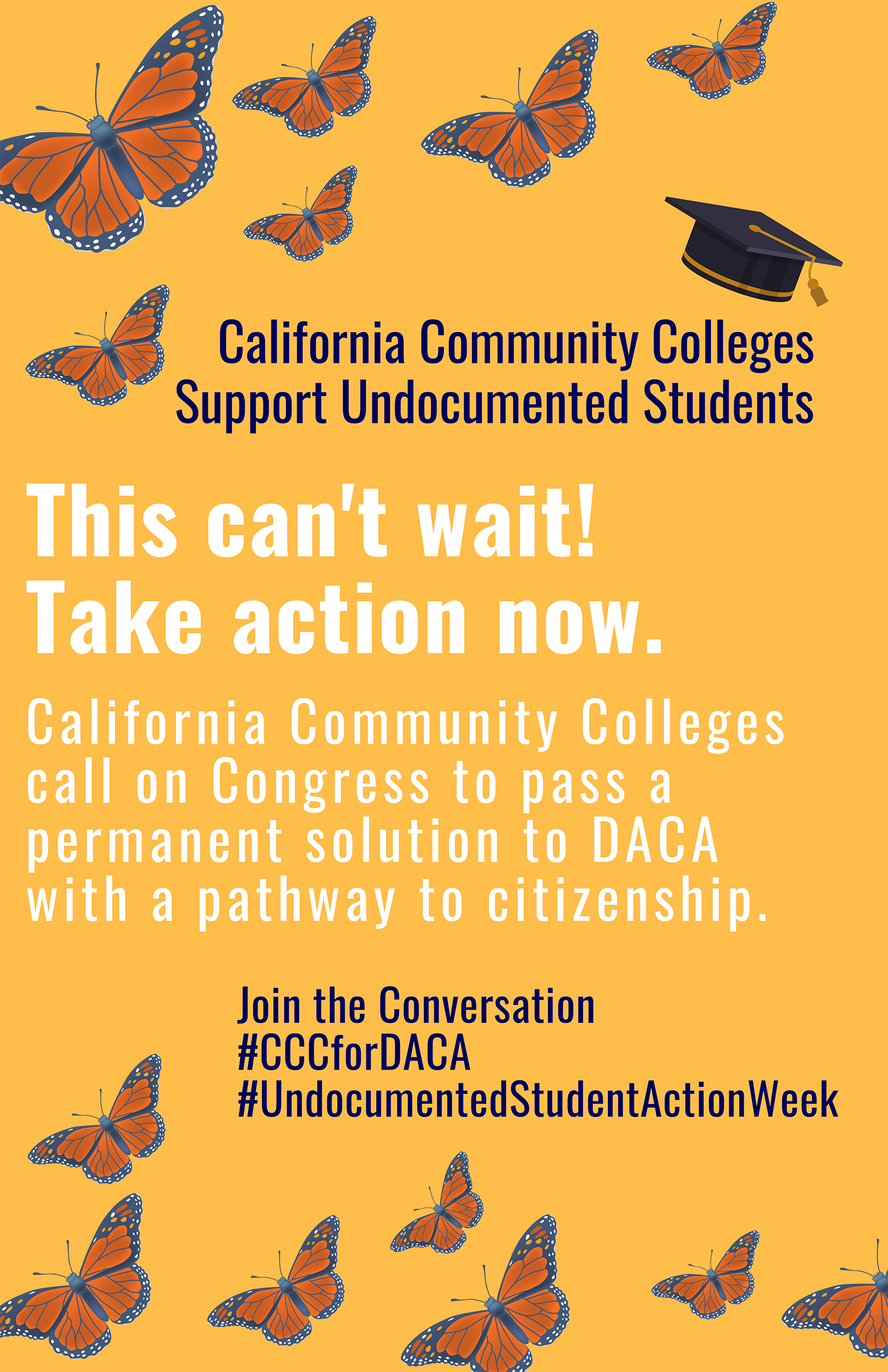 Poster for CCC Undocumented Student Week of Action