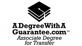 A degree with a guarantee logo