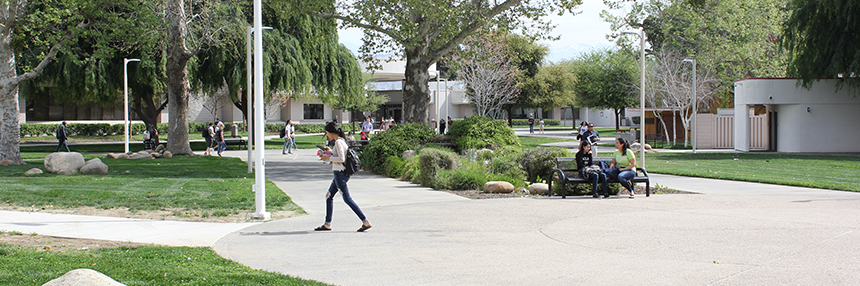 Girl Walking on Campus