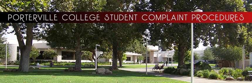 Porterville College Student Complaint Procedures