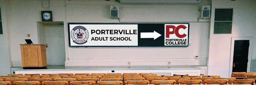 Porterville Adult School to PC Header