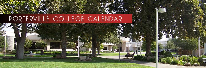 Porterville College Calendar