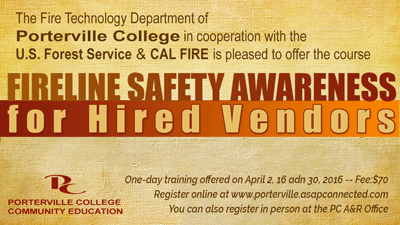 Fireline Safety Awareness course for Hired Vendors