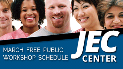 March Free Public Workshop Schedule