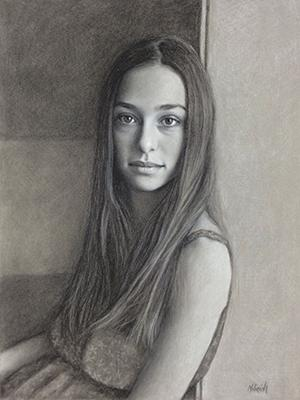 "Millinich artwork: ""Portrait of Kristina"""