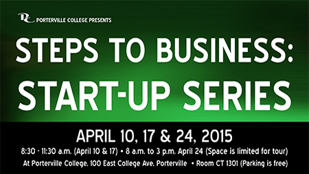 Steps to Business, Start-Up workshop series