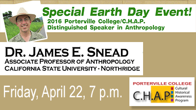 Special Earth Day Event - Dr. James E. Snead